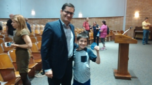 Ethan and Representative Candidate James Cargas