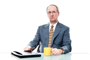 Businessman with Negative Serious Expression